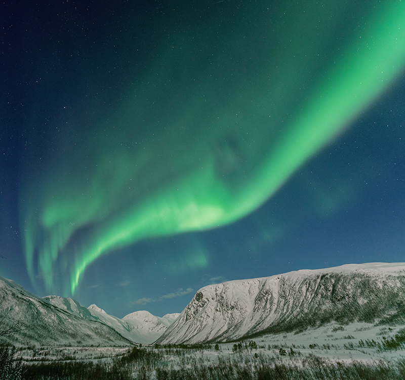 Footage from polar and alpine regions